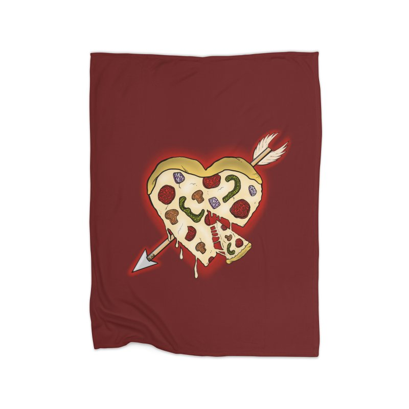 PIZZA MY HEART Home Fleece Blanket Blanket by greenlambart's Artist Shop