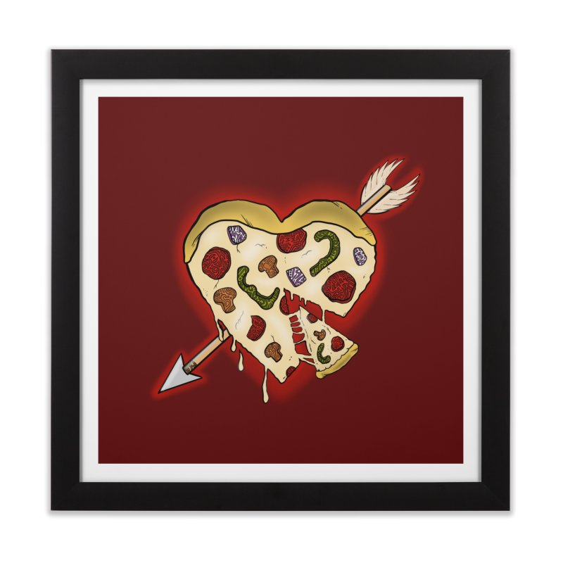 PIZZA MY HEART Home Framed Fine Art Print by greenlambart's Artist Shop