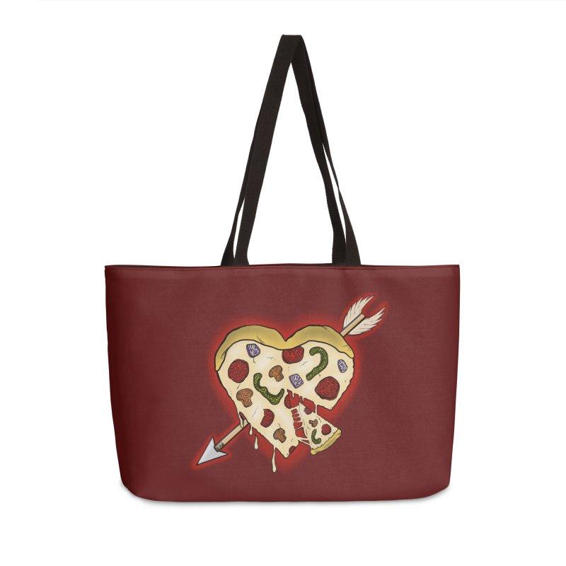 PIZZA MY HEART Accessories Weekender Bag Bag by greenlambart's Artist Shop