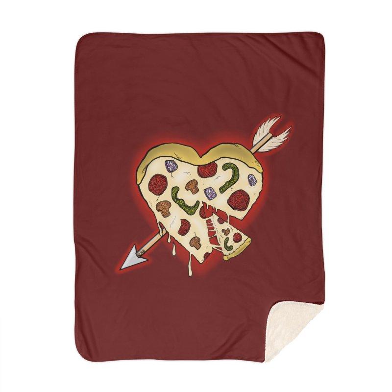 PIZZA MY HEART Home Blanket by greenlambart's Artist Shop