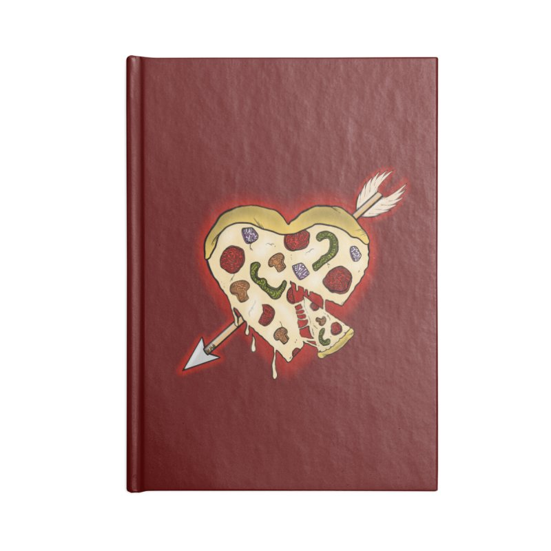 PIZZA MY HEART Accessories Blank Journal Notebook by greenlambart's Artist Shop