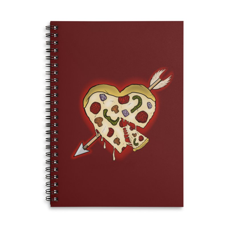 PIZZA MY HEART Accessories Lined Spiral Notebook by greenlambart's Artist Shop