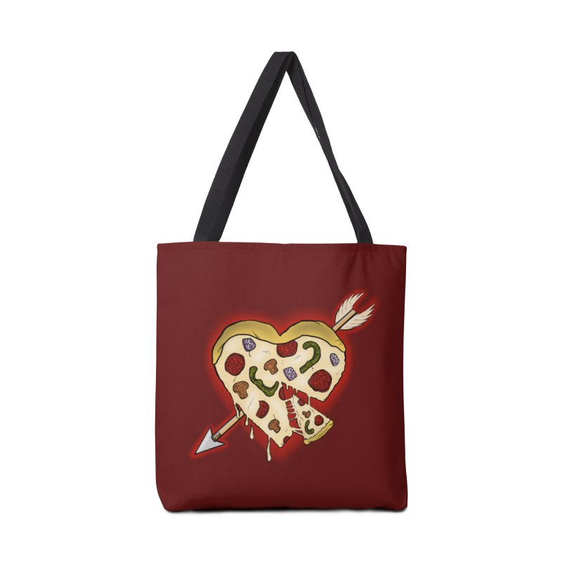 PIZZA MY HEART Accessories Bag by greenlambart's Artist Shop