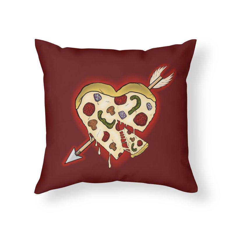 PIZZA MY HEART Home Throw Pillow by greenlambart's Artist Shop