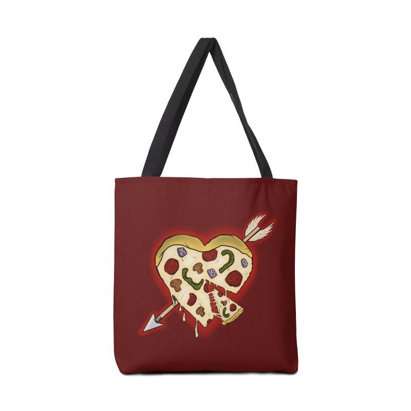 PIZZA MY HEART Accessories Bag by greenlambart's Artist Shop