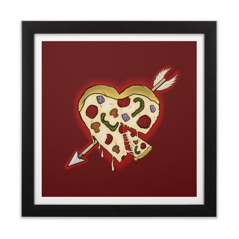 PIZZA MY HEART Home Framed Fine Art Print by greenlambart's Artist Shop