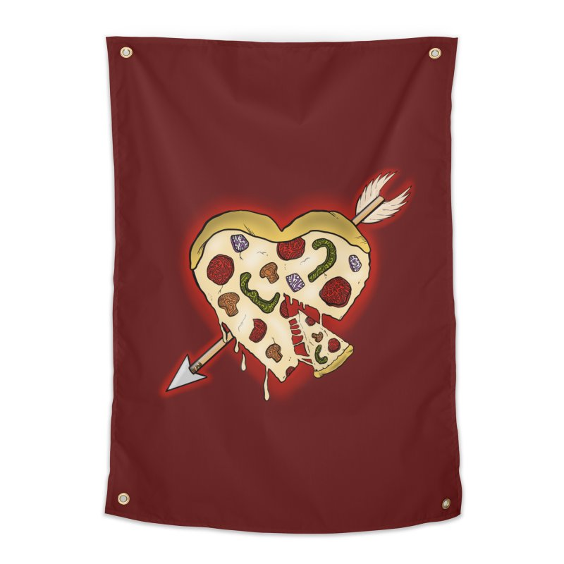 PIZZA MY HEART Home Tapestry by greenlambart's Artist Shop