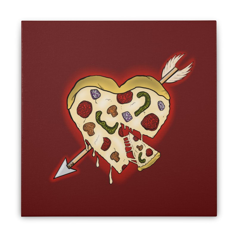 PIZZA MY HEART Home Stretched Canvas by greenlambart's Artist Shop