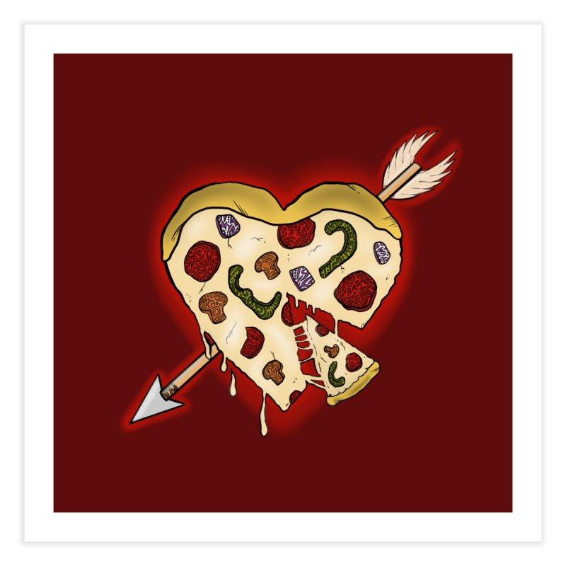 PIZZA MY HEART Home Fine Art Print by greenlambart's Artist Shop