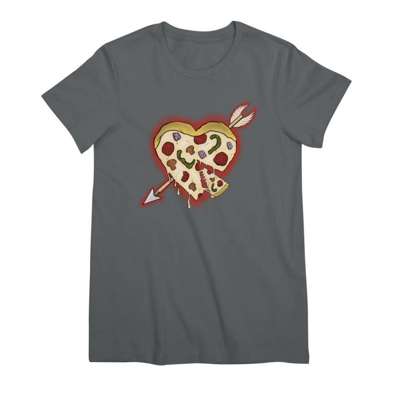 PIZZA MY HEART Women's Premium T-Shirt by greenlambart's Artist Shop