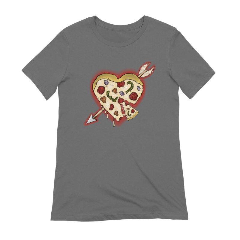 PIZZA MY HEART Women's Extra Soft T-Shirt by greenlambart's Artist Shop
