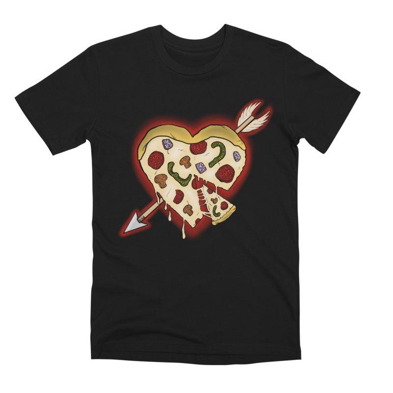 PIZZA MY HEART Men's Premium T-Shirt by greenlambart's Artist Shop