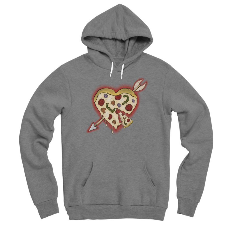 PIZZA MY HEART Men's Sponge Fleece Pullover Hoody by greenlambart's Artist Shop