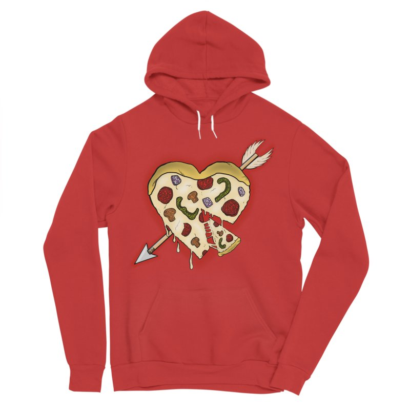 PIZZA MY HEART Women's Pullover Hoody by greenlambart's Artist Shop