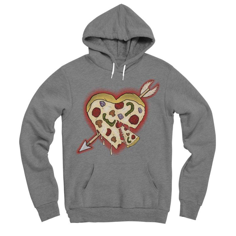 PIZZA MY HEART Men's Sponge Fleece Pullover Hoody by greenlambart's Artist Shop