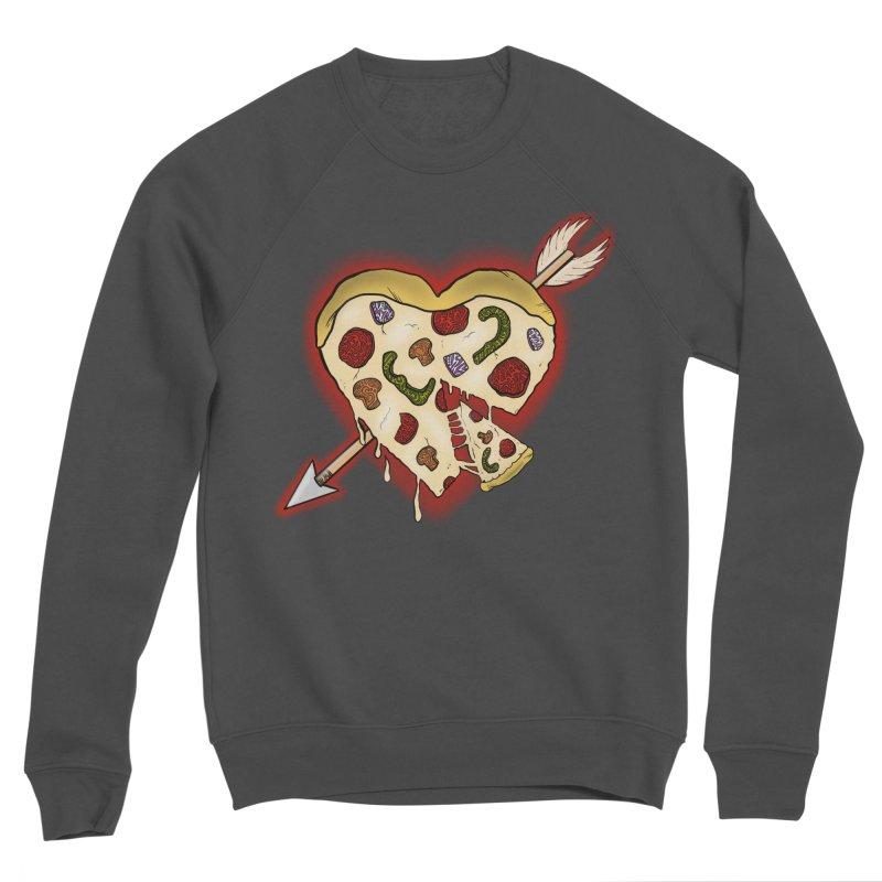 PIZZA MY HEART Men's Sponge Fleece Sweatshirt by greenlambart's Artist Shop