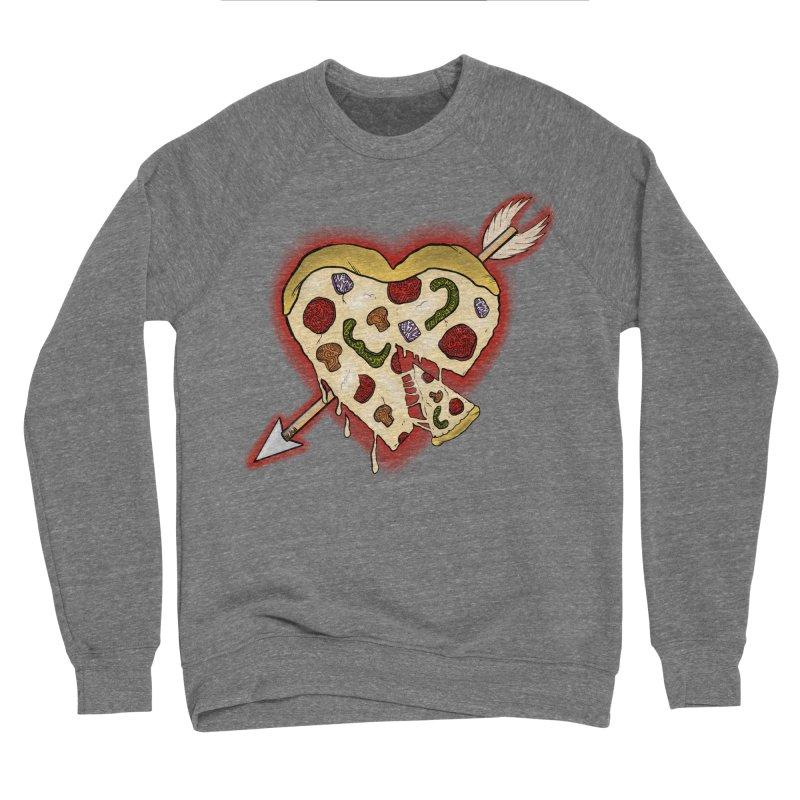 PIZZA MY HEART Women's Sponge Fleece Sweatshirt by greenlambart's Artist Shop