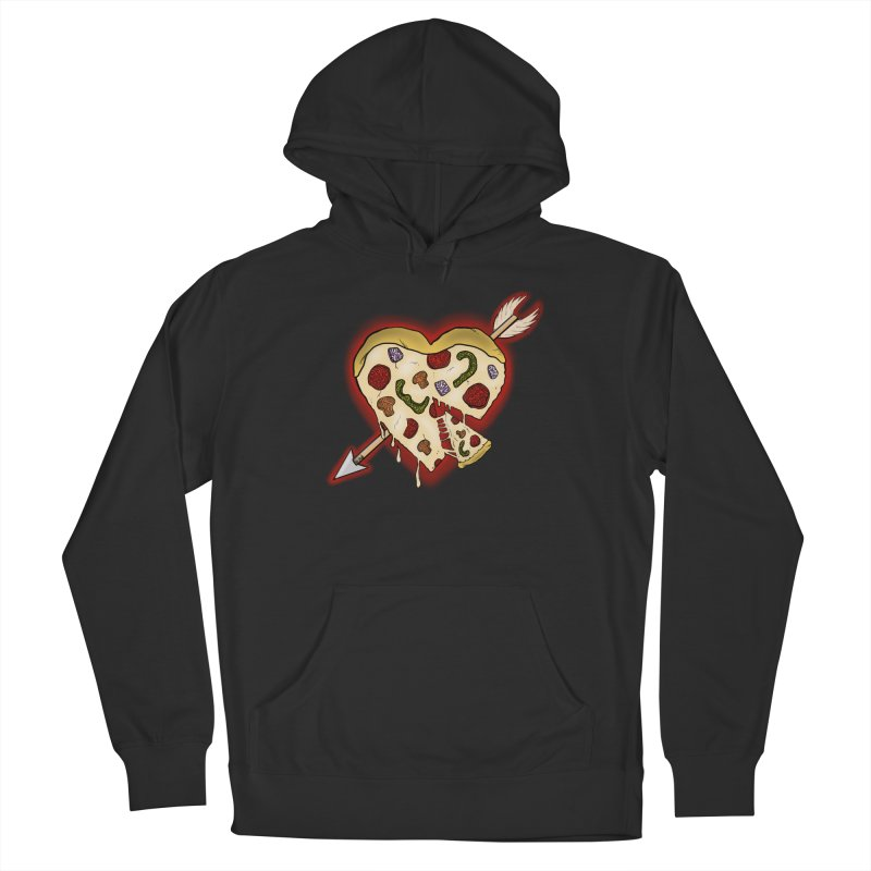 PIZZA MY HEART Men's French Terry Pullover Hoody by greenlambart's Artist Shop