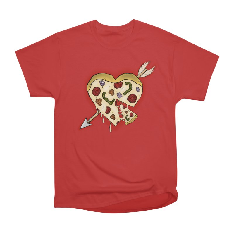PIZZA MY HEART Men's T-Shirt by greenlambart's Artist Shop