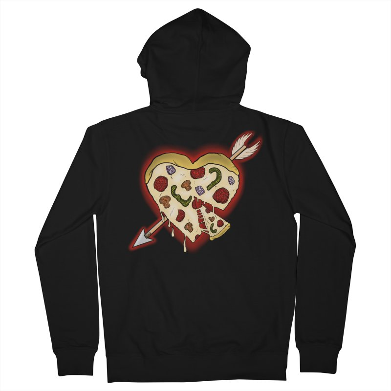 PIZZA MY HEART Women's French Terry Zip-Up Hoody by greenlambart's Artist Shop