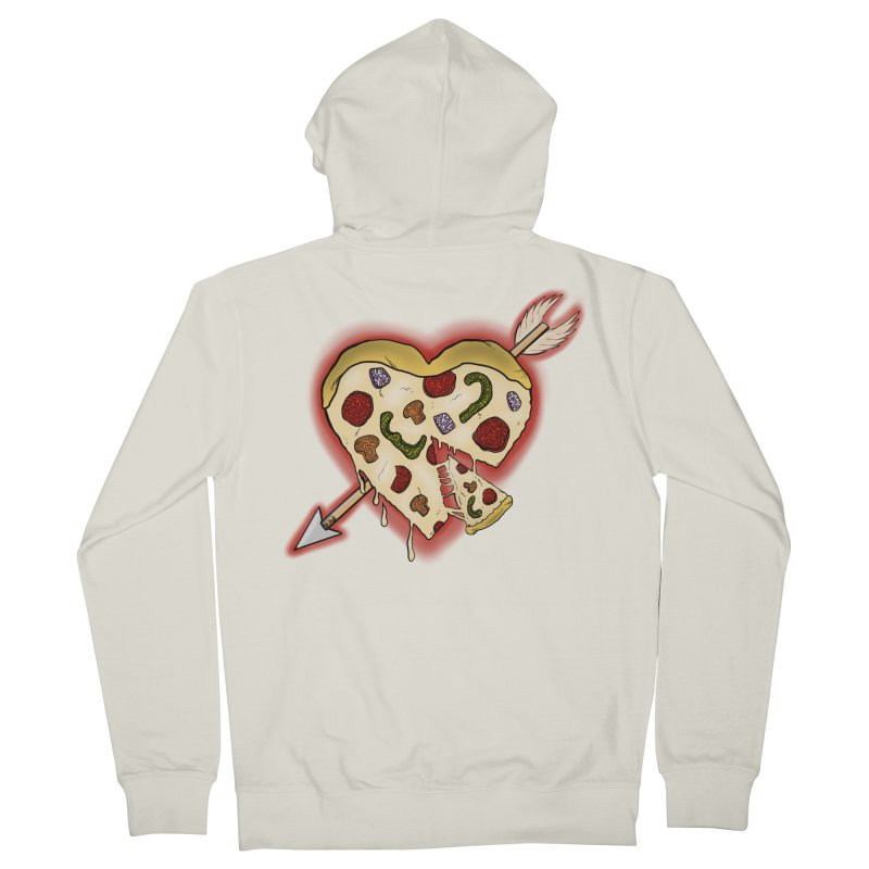 PIZZA MY HEART Men's French Terry Zip-Up Hoody by greenlambart's Artist Shop