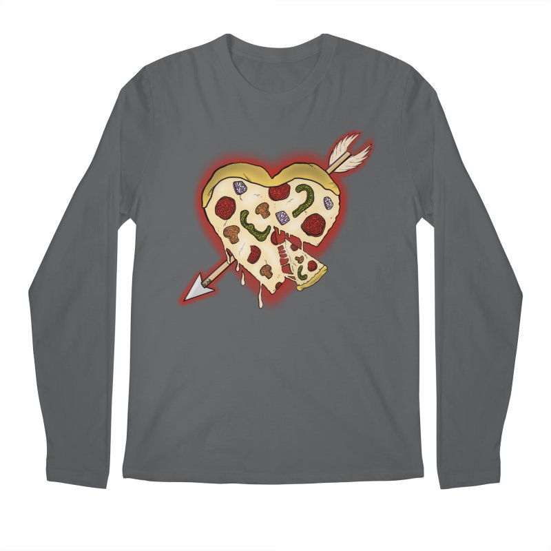 PIZZA MY HEART Men's Regular Longsleeve T-Shirt by greenlambart's Artist Shop