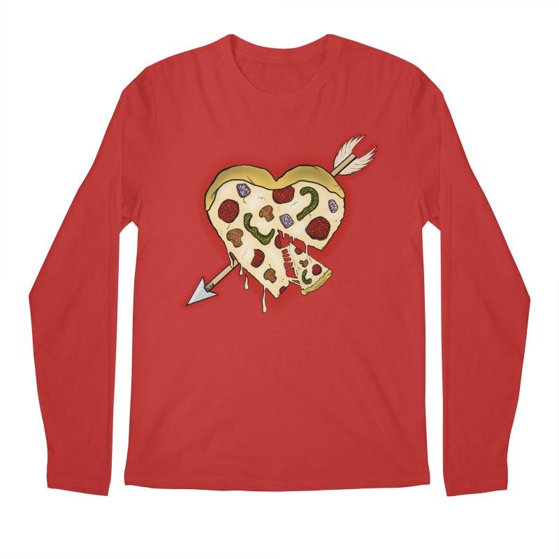 PIZZA MY HEART Men's Regular Longsleeve T-Shirt by greenlambart's Artist Shop