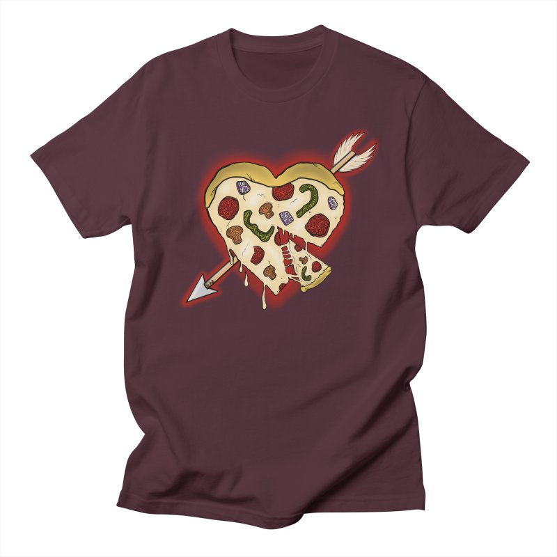 PIZZA MY HEART Men's Regular T-Shirt by greenlambart's Artist Shop