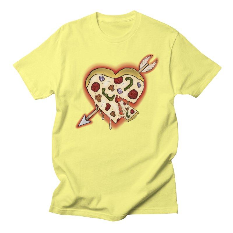 PIZZA MY HEART Men's Regular T-Shirt by greenlambart's Artist Shop