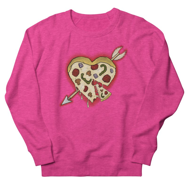 PIZZA MY HEART Women's French Terry Sweatshirt by greenlambart's Artist Shop