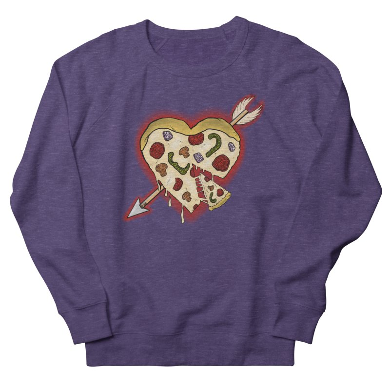 PIZZA MY HEART Men's French Terry Sweatshirt by greenlambart's Artist Shop
