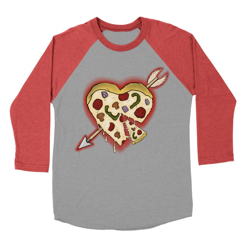 PIZZA MY HEART Women's Baseball Triblend Longsleeve T-Shirt by greenlambart's Artist Shop