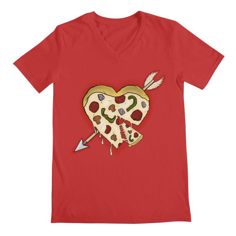PIZZA MY HEART Men's V-Neck by greenlambart's Artist Shop