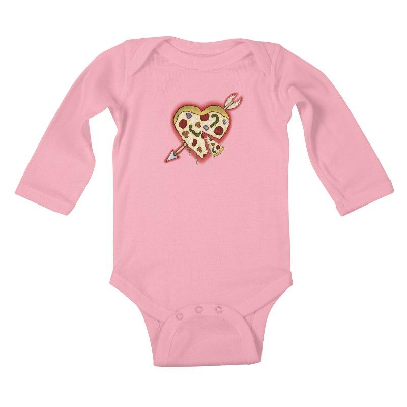 PIZZA MY HEART Kids Baby Longsleeve Bodysuit by greenlambart's Artist Shop