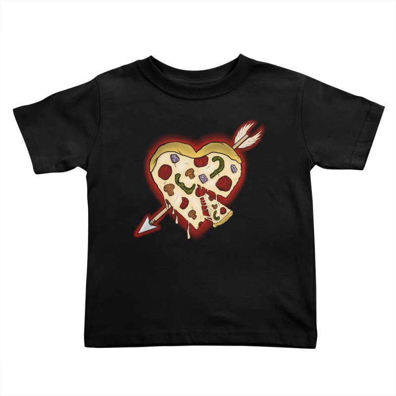 PIZZA MY HEART Kids Toddler T-Shirt by greenlambart's Artist Shop
