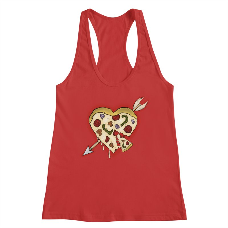 PIZZA MY HEART Women's Tank by greenlambart's Artist Shop