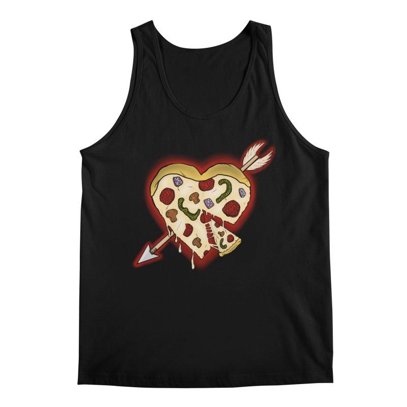 PIZZA MY HEART Men's Regular Tank by greenlambart's Artist Shop
