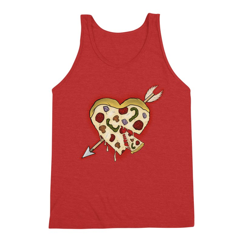 PIZZA MY HEART Men's Triblend Tank by greenlambart's Artist Shop