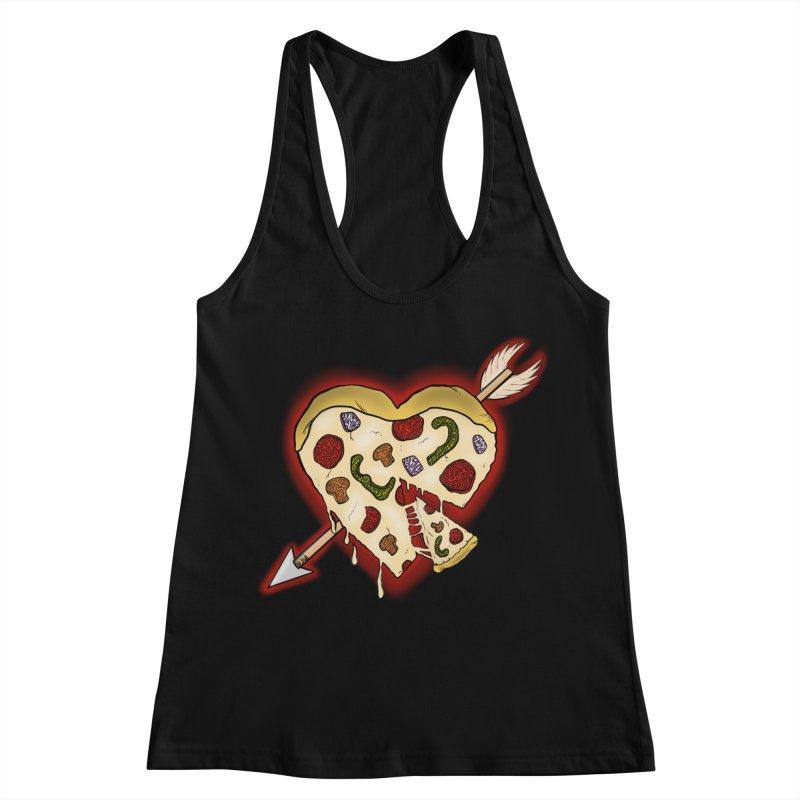 PIZZA MY HEART Women's Racerback Tank by greenlambart's Artist Shop