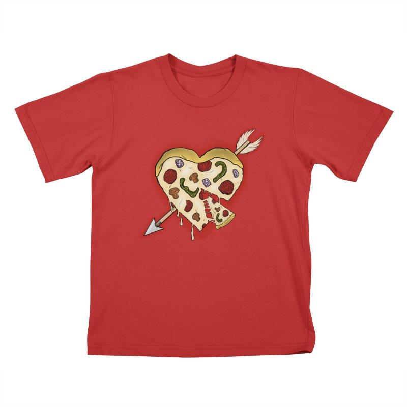 PIZZA MY HEART Kids T-Shirt by greenlambart's Artist Shop