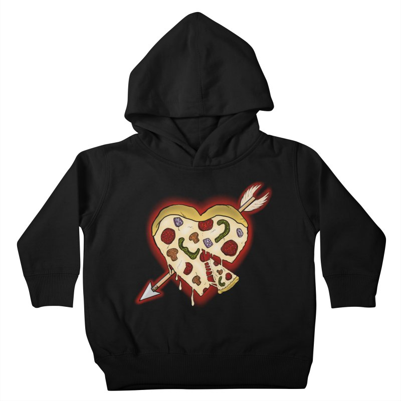 PIZZA MY HEART Kids Toddler Pullover Hoody by greenlambart's Artist Shop