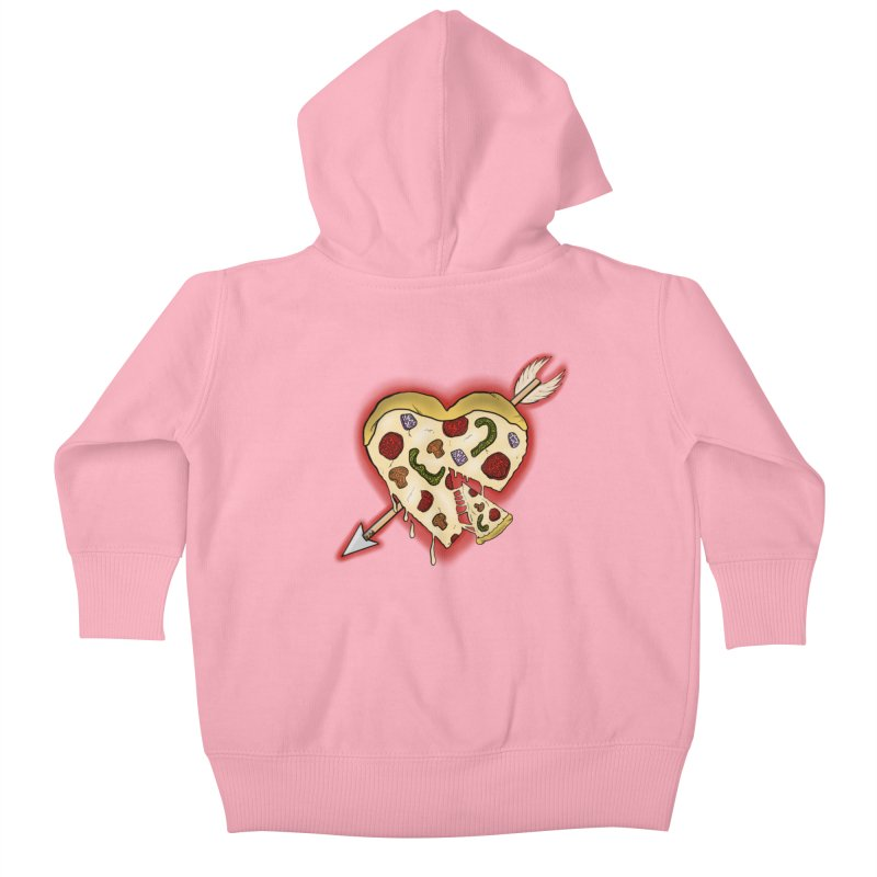 PIZZA MY HEART Kids Baby Zip-Up Hoody by greenlambart's Artist Shop