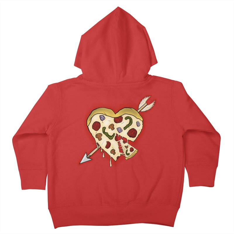 PIZZA MY HEART Kids Toddler Zip-Up Hoody by greenlambart's Artist Shop