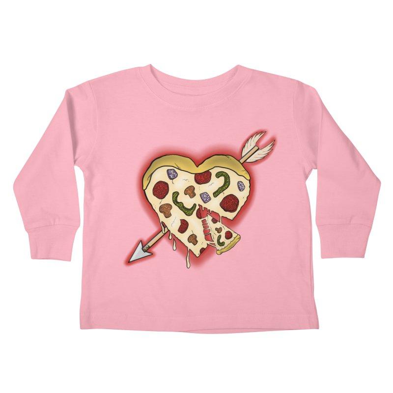 PIZZA MY HEART Kids Toddler Longsleeve T-Shirt by greenlambart's Artist Shop