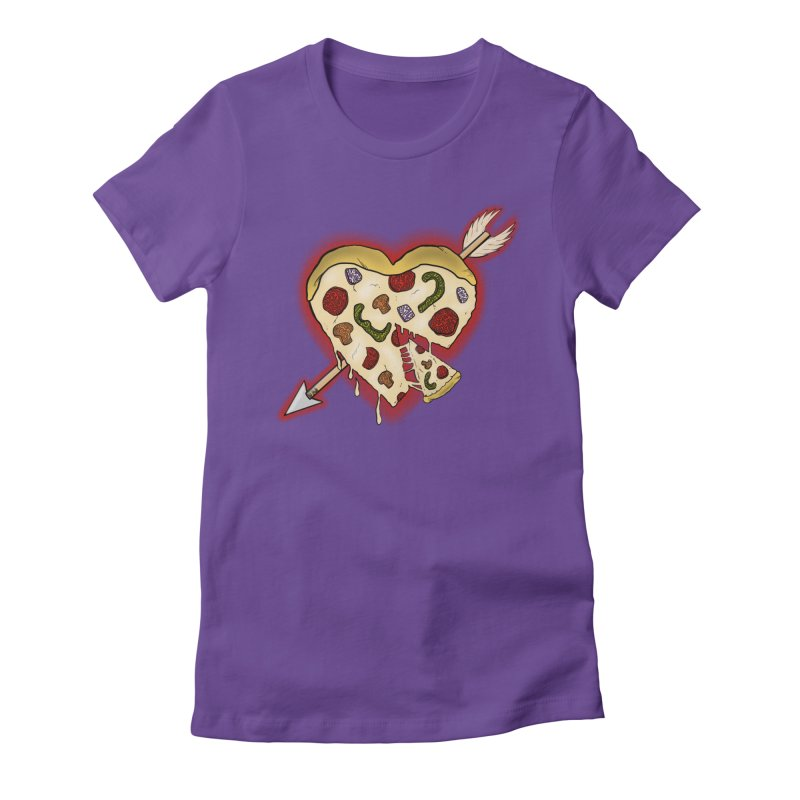 PIZZA MY HEART Women's Fitted T-Shirt by greenlambart's Artist Shop