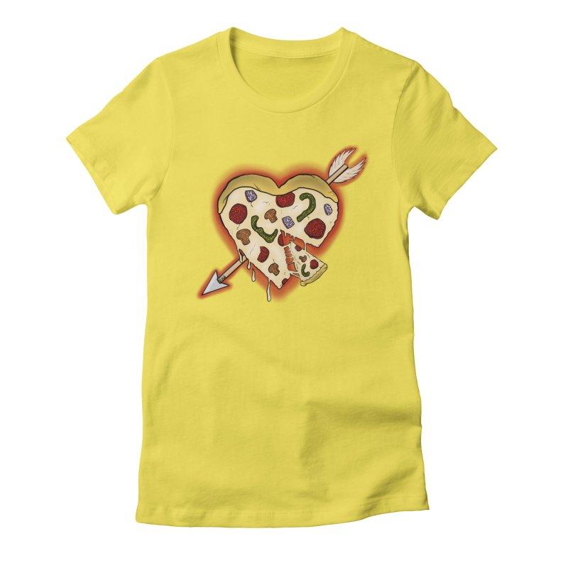 PIZZA MY HEART Women's T-Shirt by greenlambart's Artist Shop