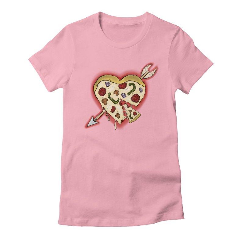PIZZA MY HEART Women's Fitted T-Shirt by greenlambart's Artist Shop
