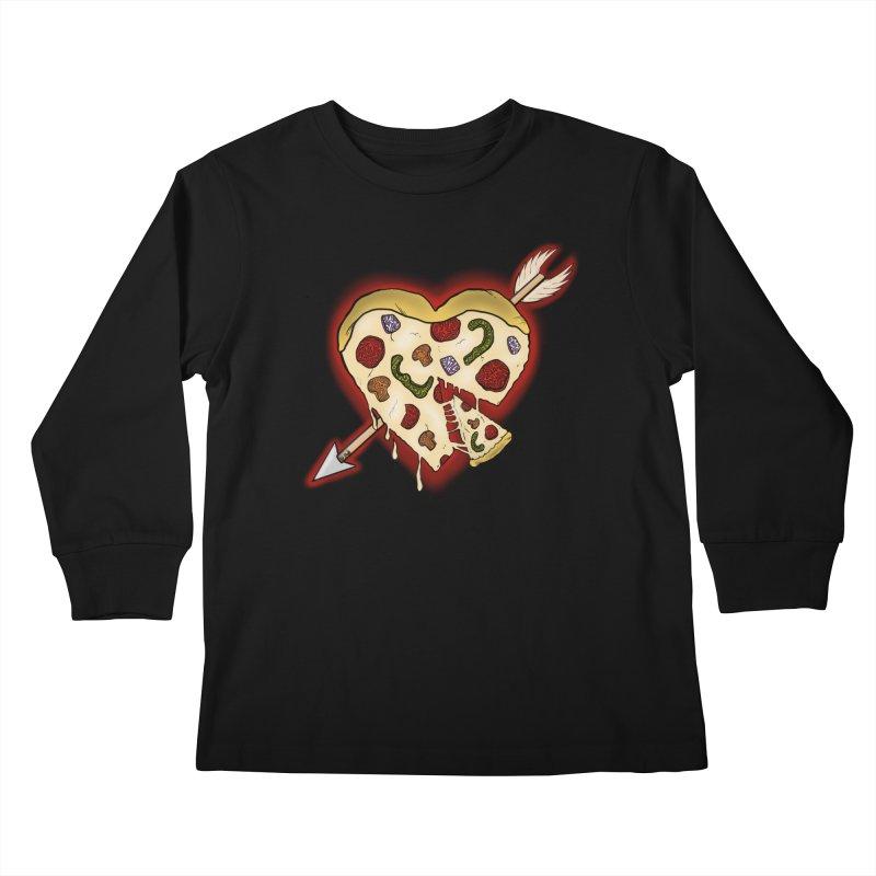 PIZZA MY HEART Kids Longsleeve T-Shirt by greenlambart's Artist Shop