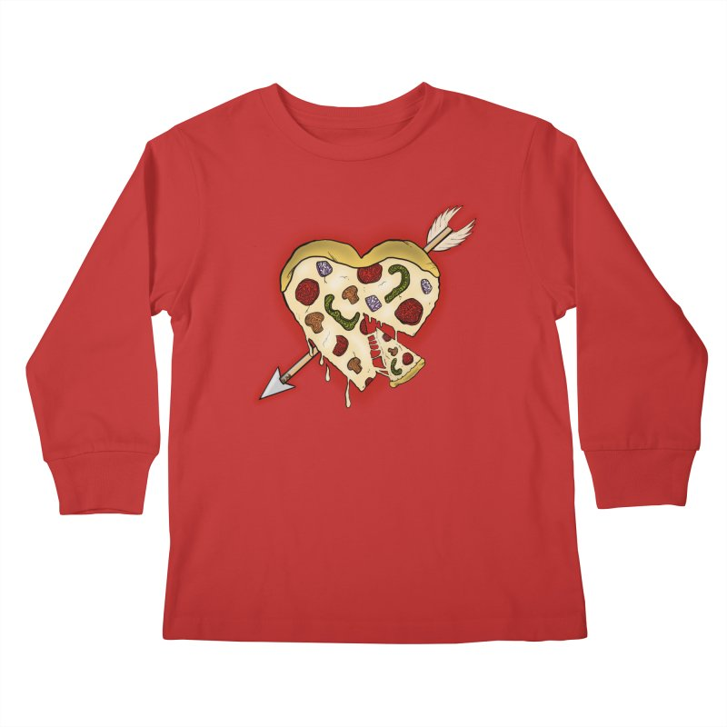 PIZZA MY HEART Kids Longsleeve T-Shirt by greenlambart's Artist Shop