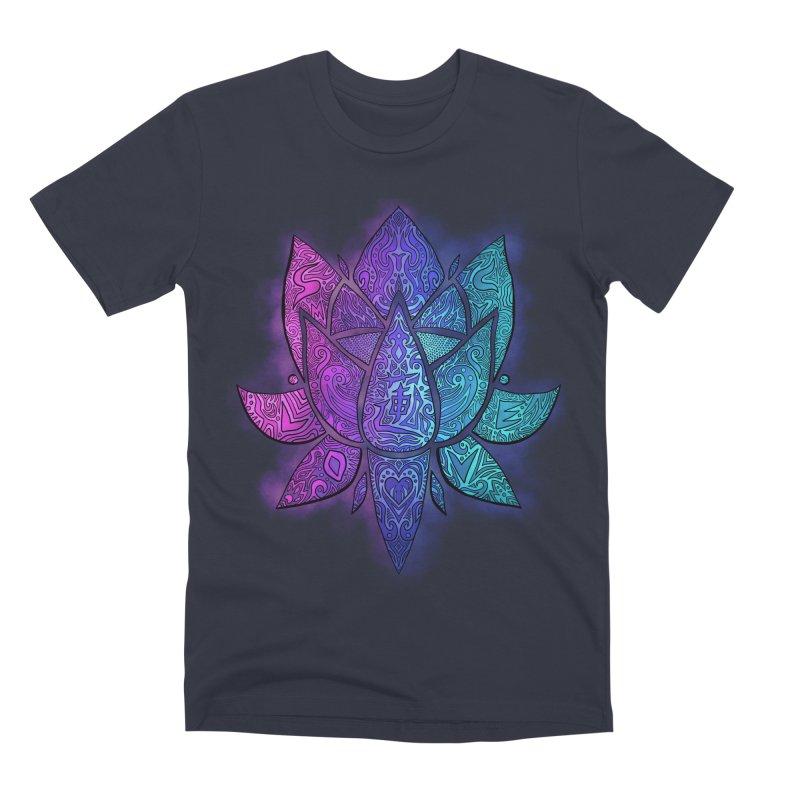 LOTUS Men's Premium T-Shirt by greenlambart's Artist Shop